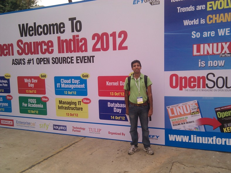 Vikram Vaswani at Open Source India 2012